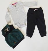 Комплект-тройка Carter's на мальчика 24 месяца жилетка бодик штаны набор Картерс carters