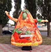Надувной человечек пицца машущий рукой