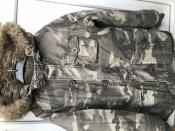 Куртка - парка на меху зимняя, на 7-8лет
