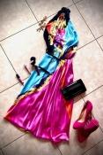 Натуральный шелк Дизайнерское платье-ромпер Kriza премиум-качества