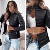 Куртка жіноча чорна Мод.1464