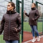 Куртка жіноча коричнева весна Мод 248