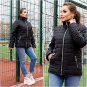 Куртка жіноча чорна весна Мод 247