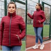 Куртка бордова жіноча весна Мод 247