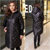 Пальто чорне жіноче плащівка Мод 240
