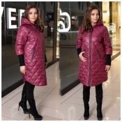 Пальто бордове жіноче плащівка Мод 240