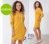 "Спортивное платье с капюшоном и карманами ""Lazio""| Норма"
