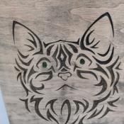 """Декоративное панно """"Кошка"""""""
