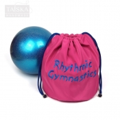 """Чехол для гимнастического мяча """"Розовый +синяя вышивка RG"""" от Taiska HM"""