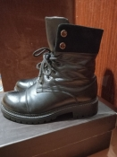 Зимние кожаные ботинки, берцы 37 р.