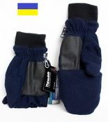 Варежки мужские Grand Sierra с откидными пальцами флисовые синие, размер XL