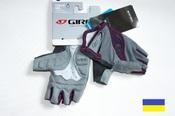 Giro Tessa Charcoal Plum женские велосипедные перчатки подростковые без пальцев