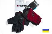 Giro Tessa Ruby Red женские велосипедные перчатки подростковые без пальцев красные